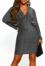 Silver Lurex Mini Dress