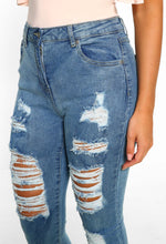 Move On Up Light Blue High Waisted Distressed Skinny Jeans