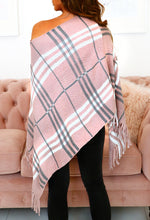 Pink Checked Poncho