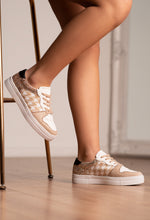 Nude Houndstooth Trainers