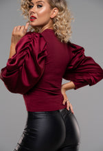 Satin Sleeve Top
