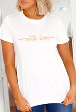 Love Affair With Love Embroidered T Shirt