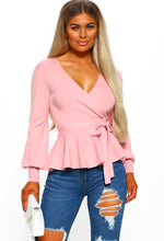 Pink Wrap Front Jumper - Front View