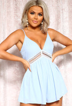 Baby Blue Crochet Playsuit