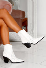 Lunar White Cowboy Ankle Boot