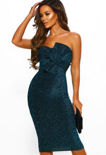 Blue Glitzy Bodycon Midi Dress