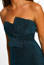Knot Detail Lurex Party Dress