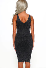 Stretch Lurex Midi Dress - Back View