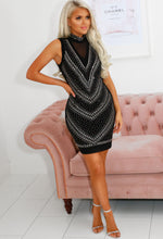 Black Diamante Mini Dress