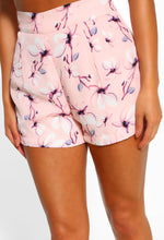 Midnight Marina Pink Floral High Waisted Shorts