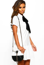 Monochrome Chain Detail Bucket Bag Outfit