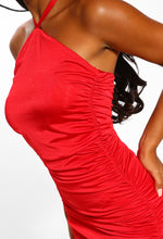 Red Halterneck Dress
