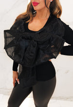 Mimi Black Giant Bow Reversible Top