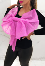 Mimi Pink Giant Bow Reversable Top