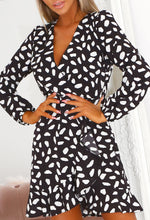 Black Long Sleeve Wrap Dress