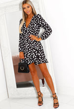 Monochrome Spotted Mini Dress