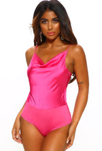 Satin Pink Bodysuit