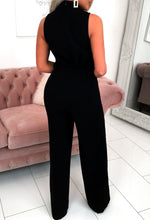 Black Wide Leg Occasion Jumpsuit