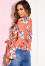 Floral Frill Long Sleeve Top