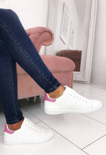 White Trainers With Pink Diamantes