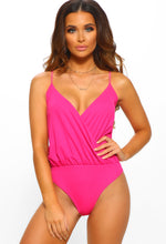 Pink Sleeveless Wrap Bodysuit