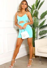 Turquoise Stretch Mini Dress