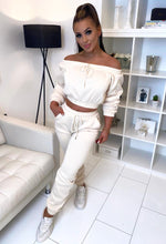 Cream Cropped Tracksuit