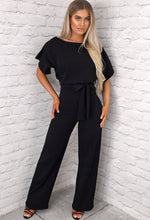 Black Wide Leg Jumpsuit - Selfie Image