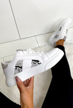 White Chunky Snake Trainers