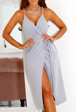 Cross Front Wrap Dress