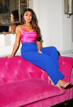 Cobalt Blue Wide Leg Trousers Outfit - Campaign Image
