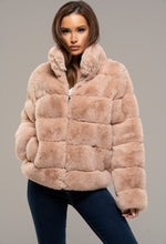 Pink Cropped Fur Coat