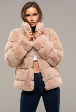 Zip Up Pink Fur Coat