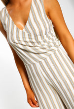 Printed Stripe Jumpsuit in White