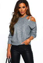 Grey Buckle Detail Jumper