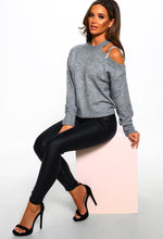 Grey Diamante Jumper