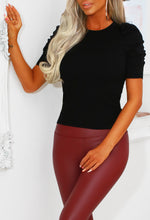 Black Puff Sleeve Jumper