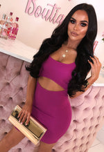 Pink Cut Out Bodycon Mini Dress - With Background