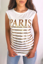 White Sequin Printed T-Shirt