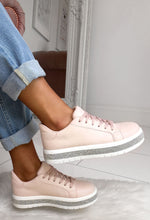 Pink Diamante Detail Trainers