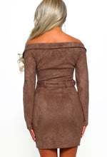Brown Biker Dress