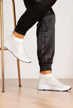Diamante Sock Trainers in White