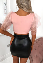Tulle Puff Sleeve Top