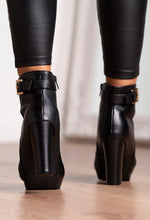 Block Heel Black Boots