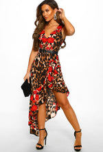 Leopard Print Midi Dress - Front View