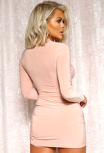 Pink Long Sleeve Mini Dress