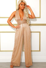 Wide Leg Plisse Jumpsuit
