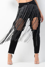 Shimmy Shimmy Black Tassel Distressed Mom Jean