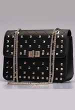 Black and Silver Bag with Chain