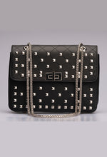 Black Studded Hand Bag
